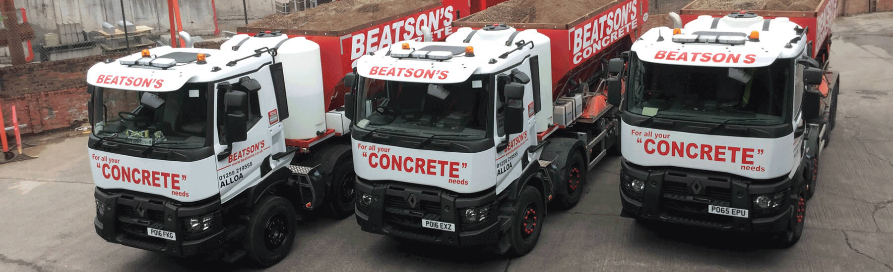 Concrete delivery trucks Scotland