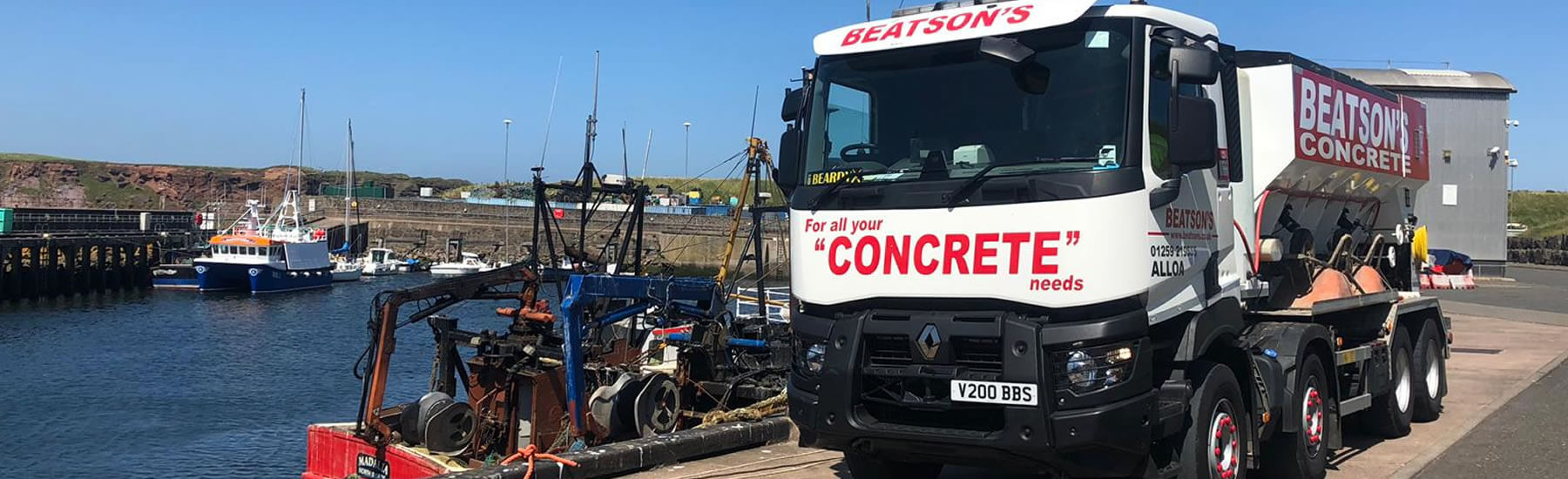 Concrete delivery service Scotland